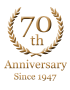 70th Anniversary Since 1947